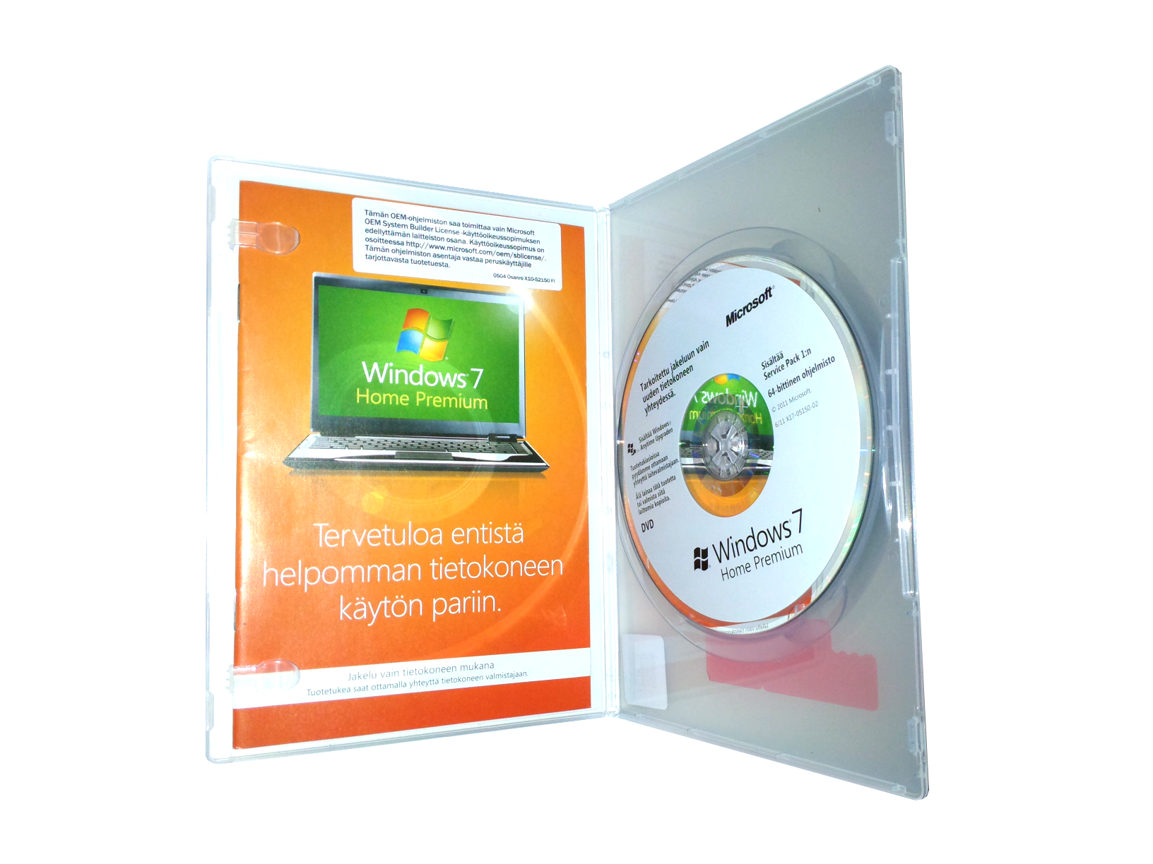 Windows 7 64bit Home Premium FIN OEM